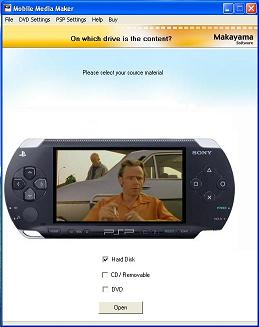 PSP Media Studio Screenshot
