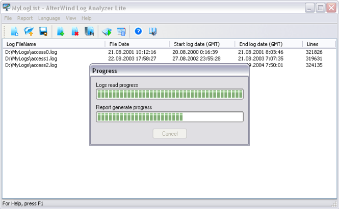 AlterWind Log Analyzer Lite Screenshot