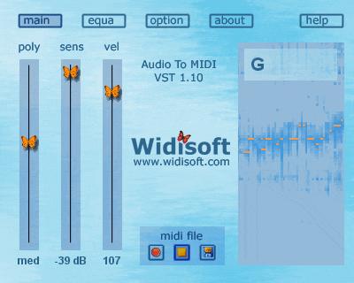 Audio To MIDI VST (PC) Screenshot 1