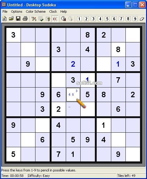 Desktop Sudoku Screenshot 3