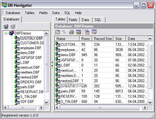 DB Navigator Screenshot 2