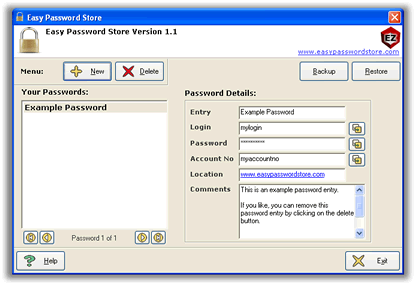 Easy Password Store (Password Manager) Screenshot