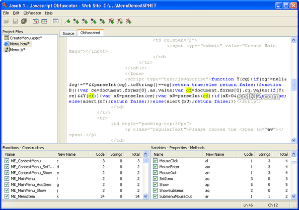 Jasob JavaScript Obfuscator Screenshot 3