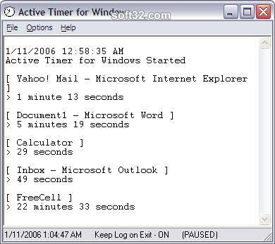 Active Timer for Windows Screenshot