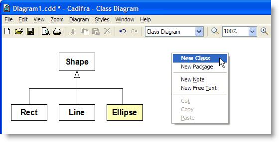 Cadifra UML Editor Screenshot