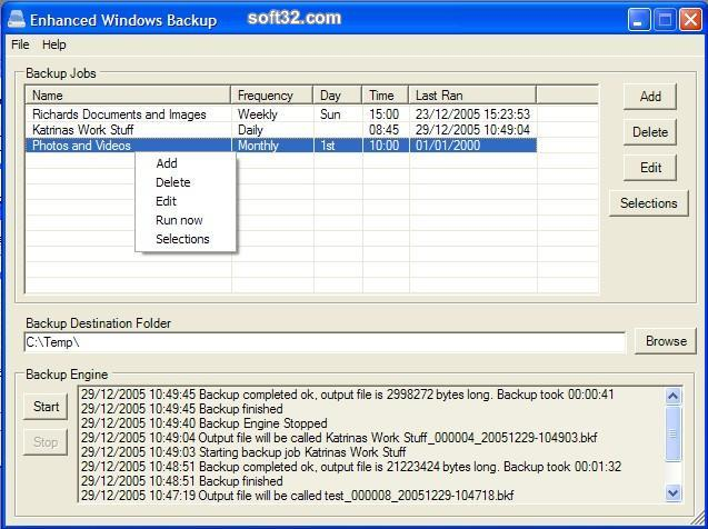 Enhanced Windows Backup Screenshot 3