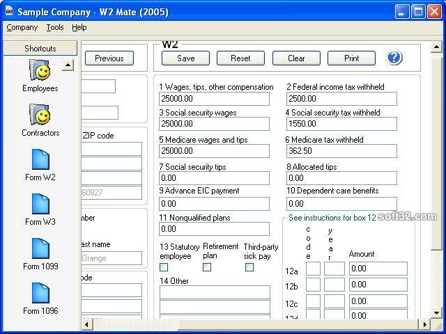 W2 Mate-W2 1099 Forms Software Screenshot 3