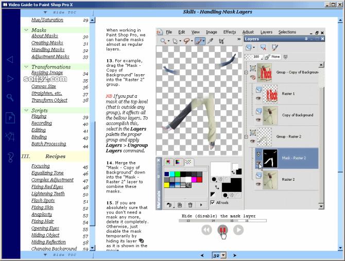 Video Guide to Paint Shop Pro Screenshot 2
