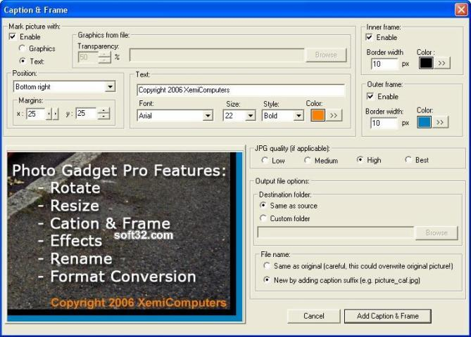 Photo Gadget Pro Screenshot 3