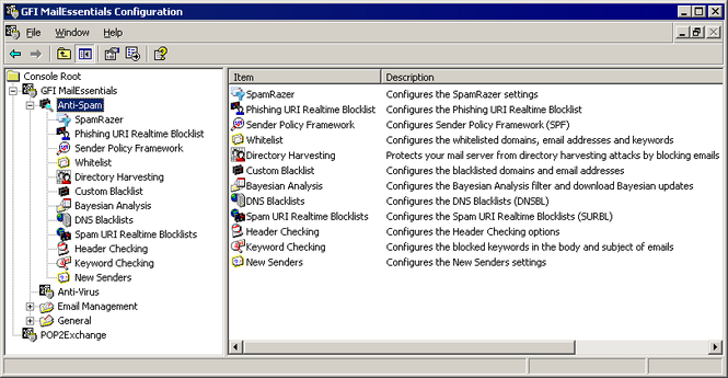 GFI MailEssentials for Exchange/SMTP Screenshot 1