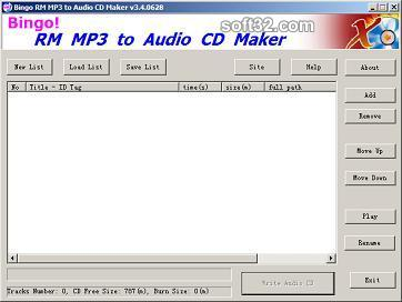 RM MP3 CD Burner Screenshot 2