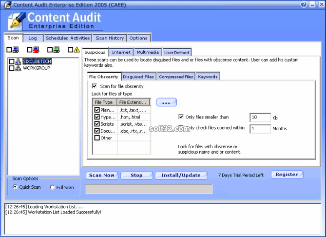 Max Secure Content Audit Enterprise Screenshot