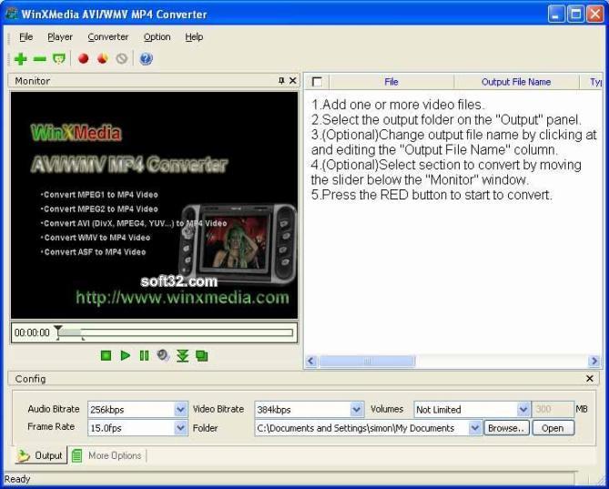 WinXMedia AVI/WMV MP4 Converter Screenshot 3