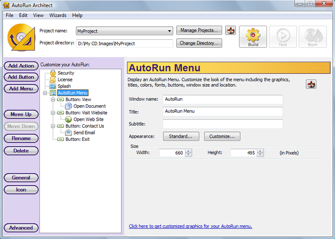 AutoRun Architect Screenshot