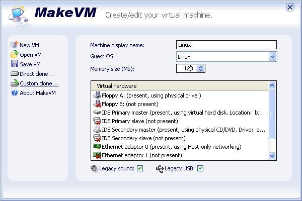 MakeVM Screenshot