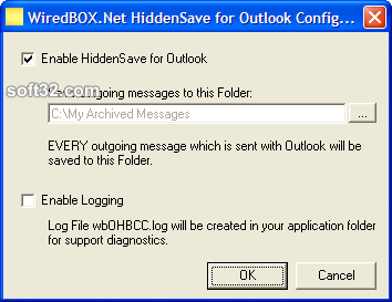 HiddenSave for Outlook Screenshot 2