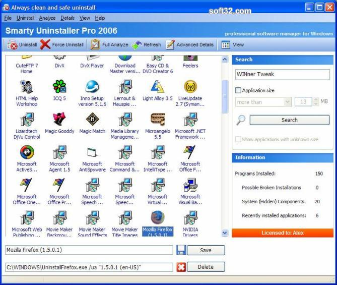 Smarty Uninstaller 2009 Pro Screenshot 3
