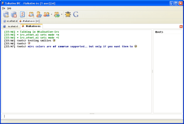 Talkative IRC Screenshot 1