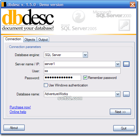 dbdesc Screenshot 2