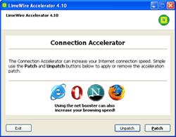LimeWire Accelerator Screenshot