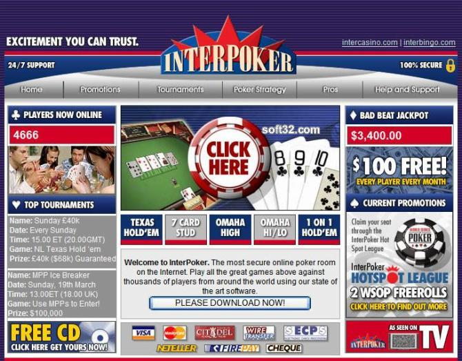 !!! ACTUAL INTERPOKER DELUXE Screenshot 2