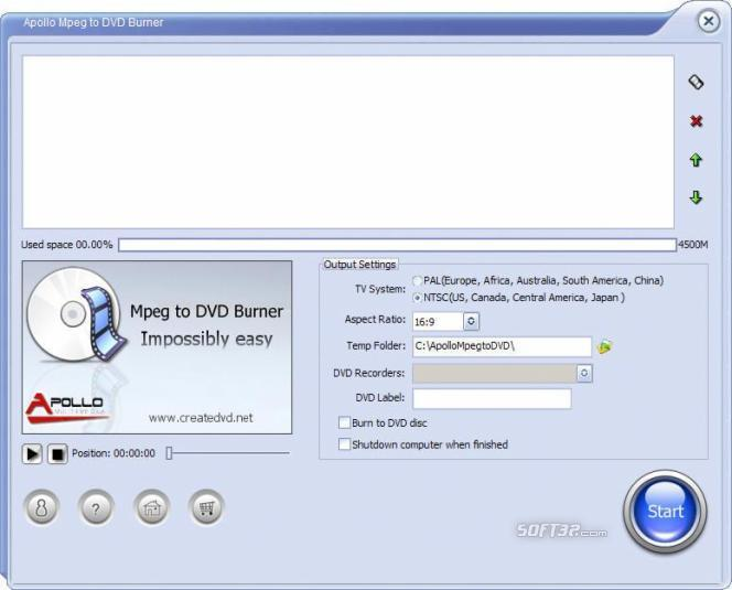 Apollo MPEG to DVD Burner Screenshot 2