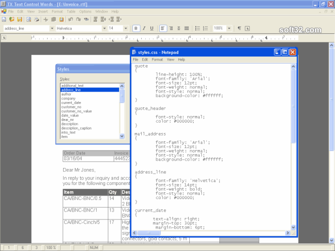 TX Text Control ActiveX Enterprise Screenshot