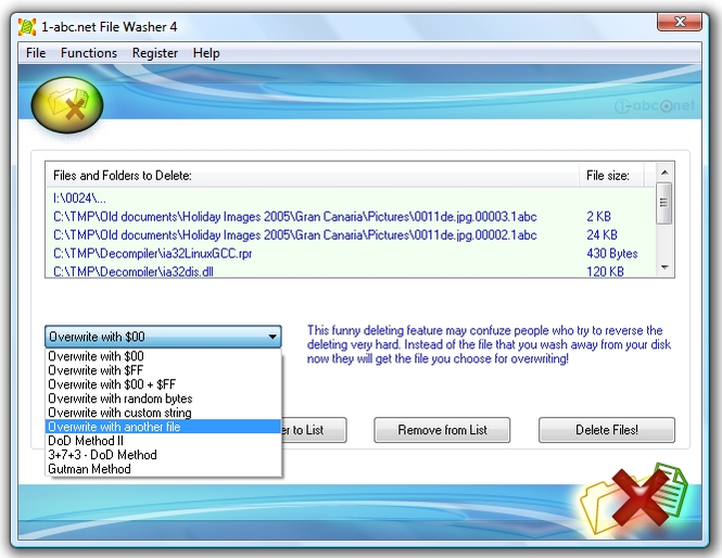1-abc.net File Washer Screenshot