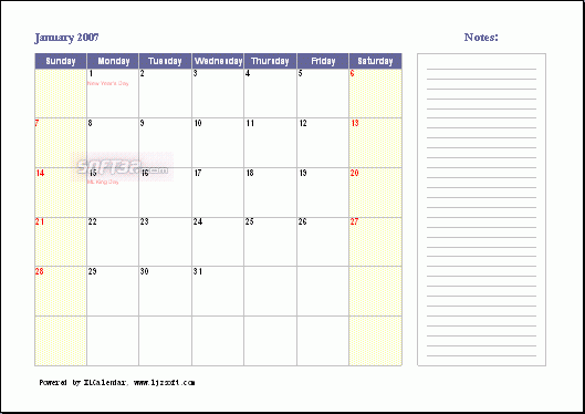 XLCalendar Screenshot 2