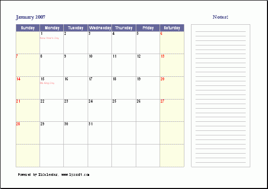 XLCalendar Screenshot 1