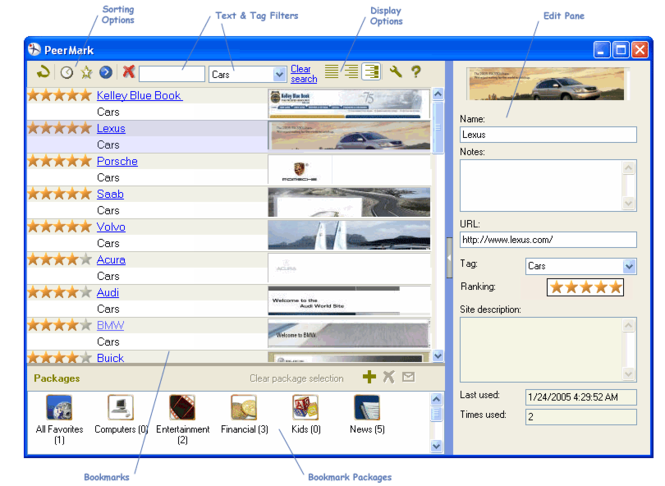 PeerMark Screenshot