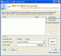 PDF to DWG Converter Screenshot
