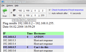 IP Ping tool Screenshot