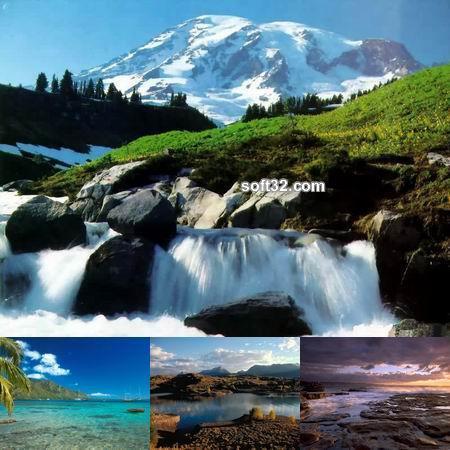Living Waterfalls Oceans and Rivers Screenshot 2