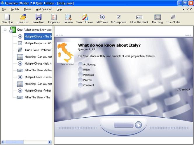 Question Writer Screenshot 2