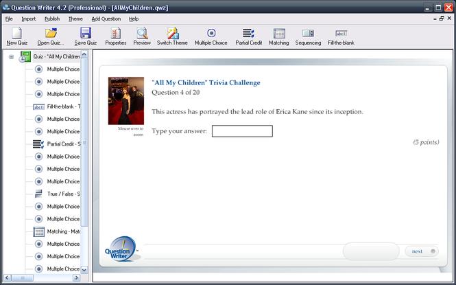 Question Writer Screenshot 1