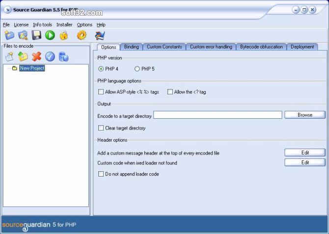 SourceGuardian PHP Encoder Screenshot 3