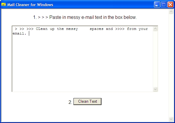 Mail Cleaner for Windows Screenshot