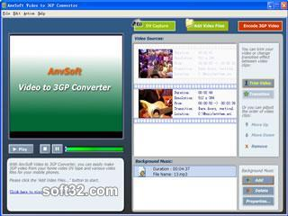 AnvSoft Video to 3GP Converter Screenshot 3