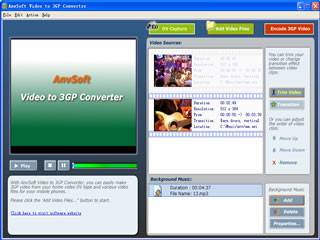 AnvSoft Video to 3GP Converter Screenshot