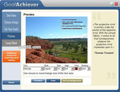 GoalAchiever Screenshot