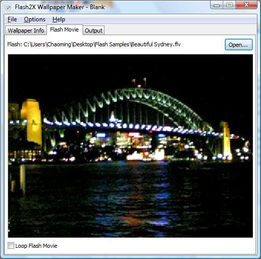 Flash2X Wallpaper Maker Screenshot