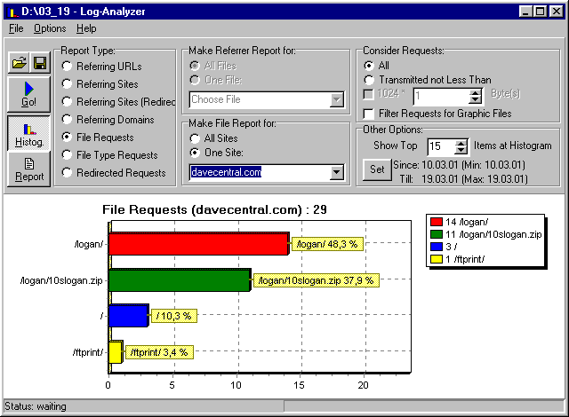 10-Strike Log-Analyzer Screenshot