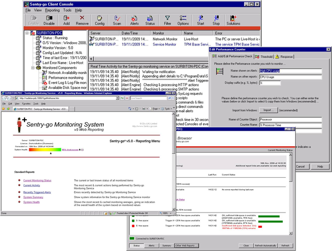 Sentry-go Quick IIS Web Monitor Screenshot