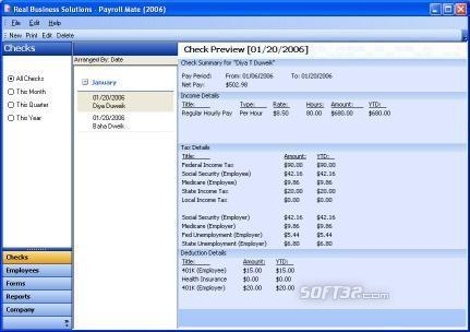 Payroll Software Screenshot 2