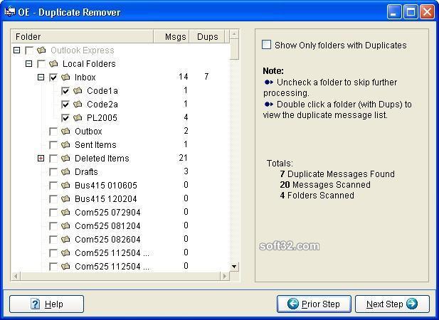 OE Duplicate Remover Screenshot 2