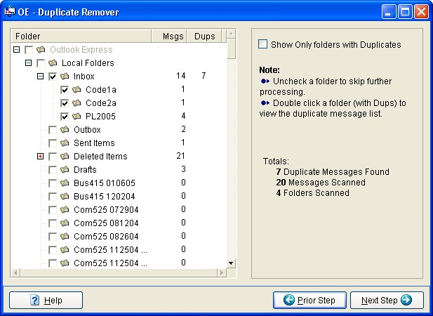 OE Duplicate Remover Screenshot