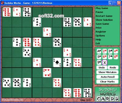 Sudoku Works Solitaire Screenshot