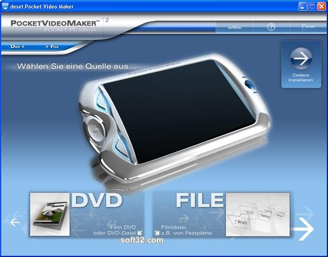deset Pocket Video Maker - Pocket PC Screenshot 1