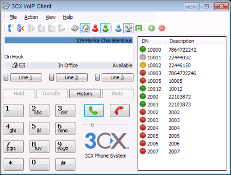 3CXPhone FREE VoIP Phone for Windows Screenshot